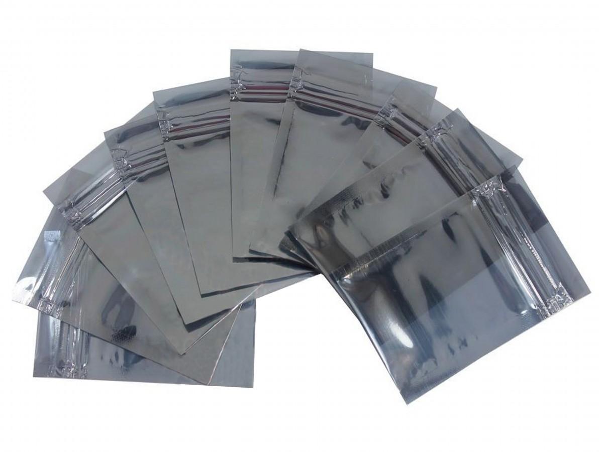 Embalagem Antiestática / Saco Antiestático Tamanho 9x6cm - Kit com 10 Unidades