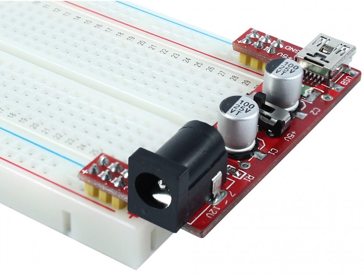 Fonte Ajustável para Protoboard 3.3V e 5V