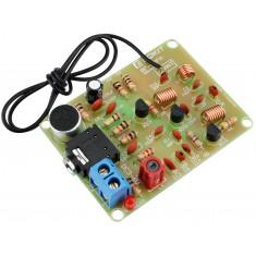 Transmissor FM RF-02FM DIY com Microfone e Entrada P2 88-108MHZ