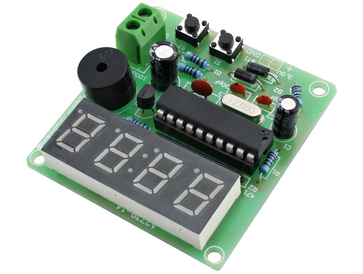 Kit Projeto Relógio Eletrônico Digital STC12C2052 com Alarme DIY