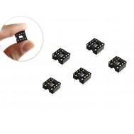 Soquete Estampado 8 pinos para CI - Kit com 5 unidades