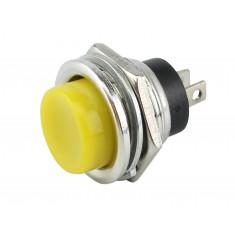 Pulsador Push Button NA 16mm / Chave Botão DS-212 3A Amarelo