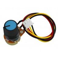 Potenciômetro 10K WH148 Linear com Fios + Knob