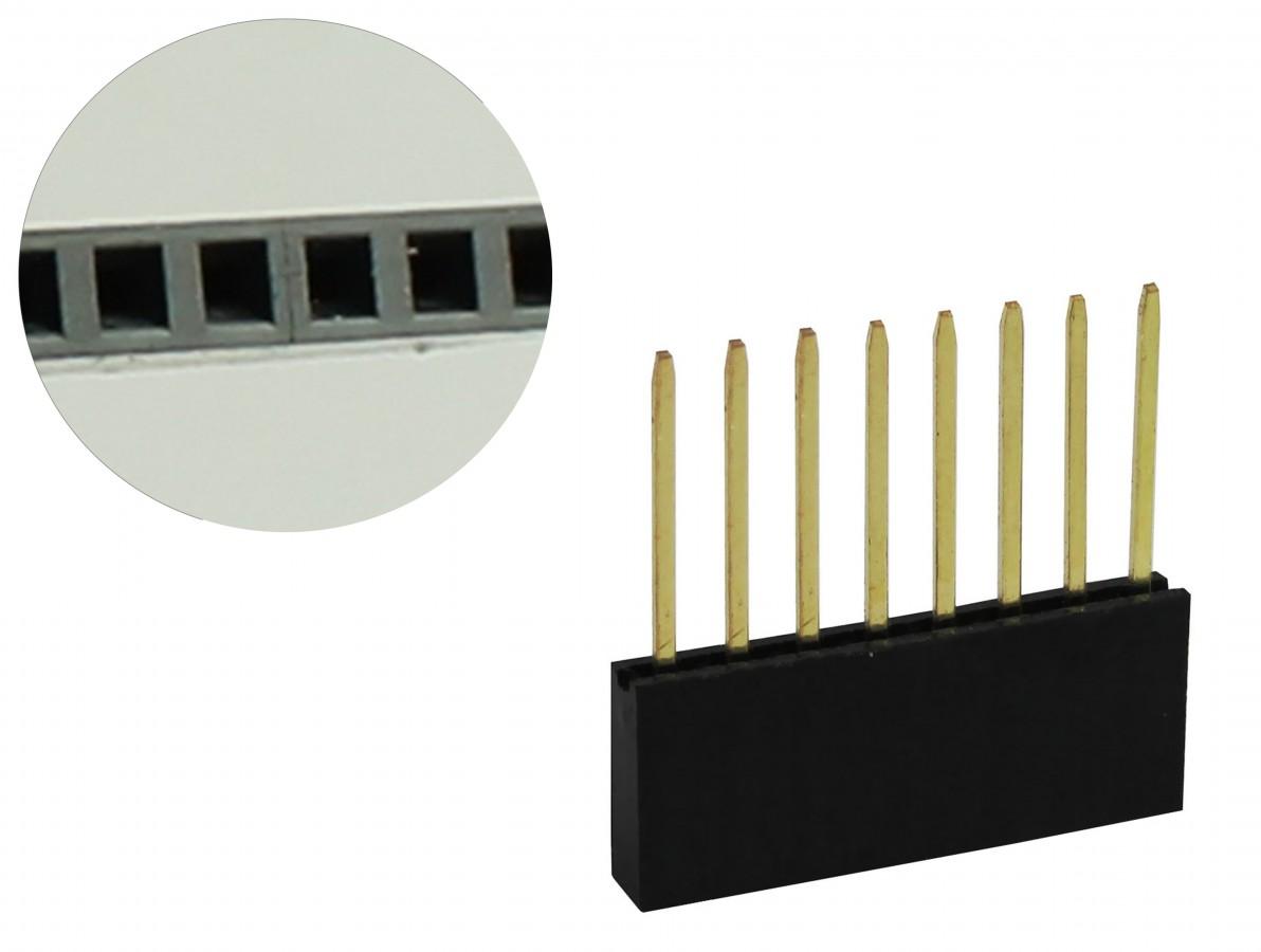 Barra de 8 pinos fêmea conectores empilhável para Arduino