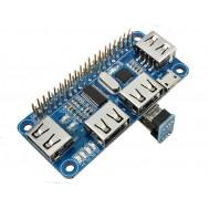 Hub USB para Raspberry Pi 3 e Zero com 4 Portas + Adaptador