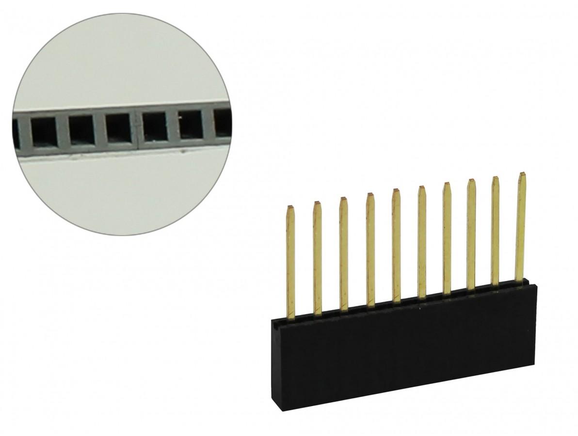 Barra de 10 pinos fêmea conectores empilhável para Arduino