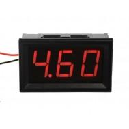 Voltímetro Digital 3 dígitos LED 4V a 30VDC - Vermelho