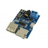 Módulo MP3 Decodificador / Amplificador de Áudio com Conexão Micro SD e USB