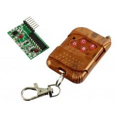 Kit Controle Transmissor RF 4 canais + Receptor 315Mhz