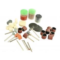 Kit de Acessórios para Micro Retífica / Ideal para Cortar, Esculpir, Polir e Outros - Kit com 80 Peças MK80