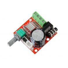 Mini Amplificador de Som PAM8610 Estéreo 2 Canais 15W + 15W