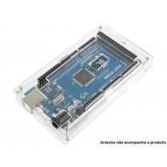 Case para Arduino Mega com Parafusos em Acrílico Transparente