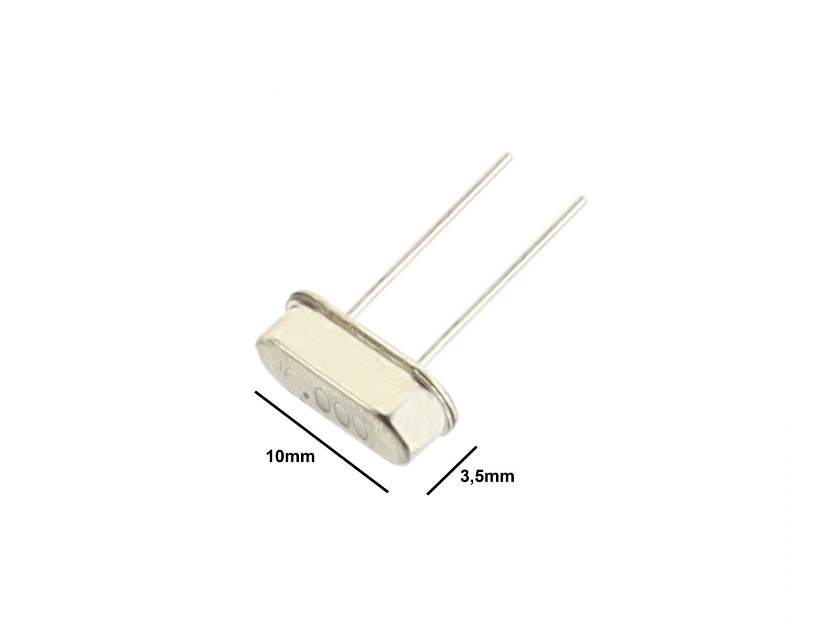 Cristal Oscilador 16MHz para Microcontroladores