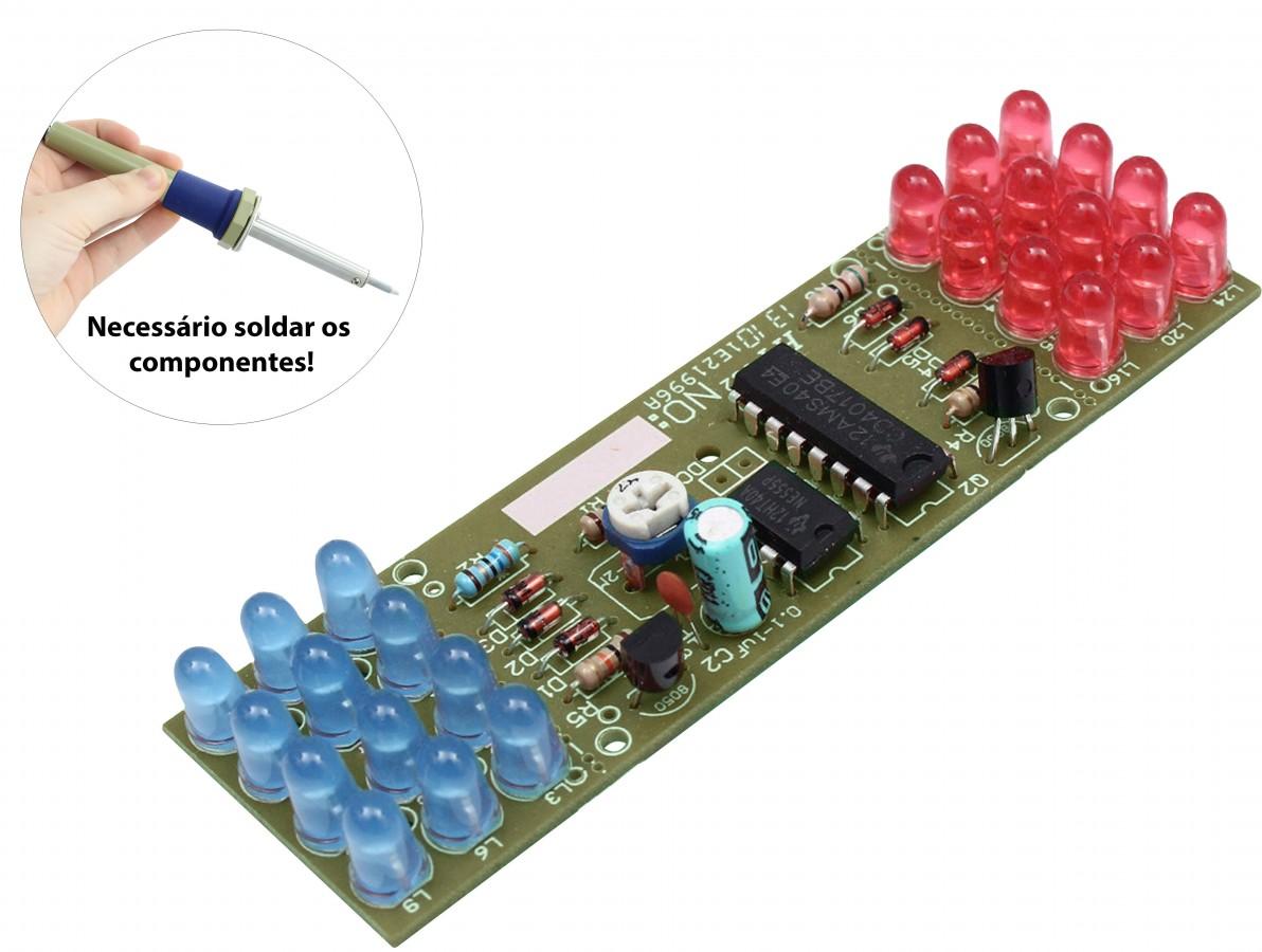 Kit Luz Estroboscópica NE555 + CD4017 DIY