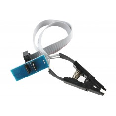 Kit Adaptador SOIC8/SOP8 com Garra de Teste para Gravador de Bios Eeprom - Grave Sem Dessoldar o CI