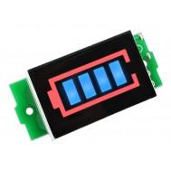 Indicador de Bateria 3.7V a 4.2V / Medidor de Bateria Barra Gráfica 5 Segmentos - FR50