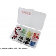 Caixa Organizadora 13,5x9,5x3,2cm com 7 Divisórias - Mini