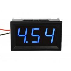 Voltímetro Digital 3 dígitos LED 4.5V a 30VDC - Azul