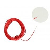 Cabo Flexível TiaFlex 5m Fio 0,14mm² - Vermelho
