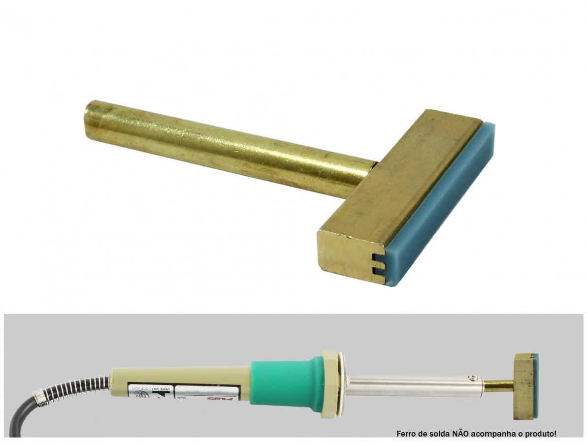 Ponta para ferro de solda 60W de cobre ideal para remoção de trilhas de flex