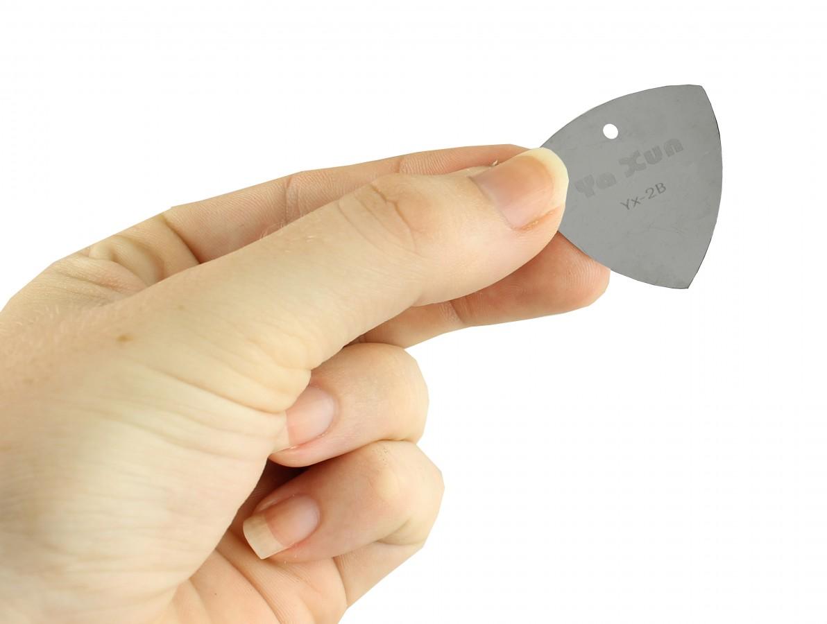Palheta em Aço Inox para Abertura de Equipamentos Eletrônicos - Kit com 5 peças