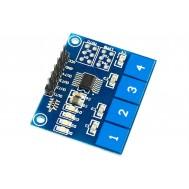 Sensor de Toque Capacitivo 4 Teclas - TTP224
