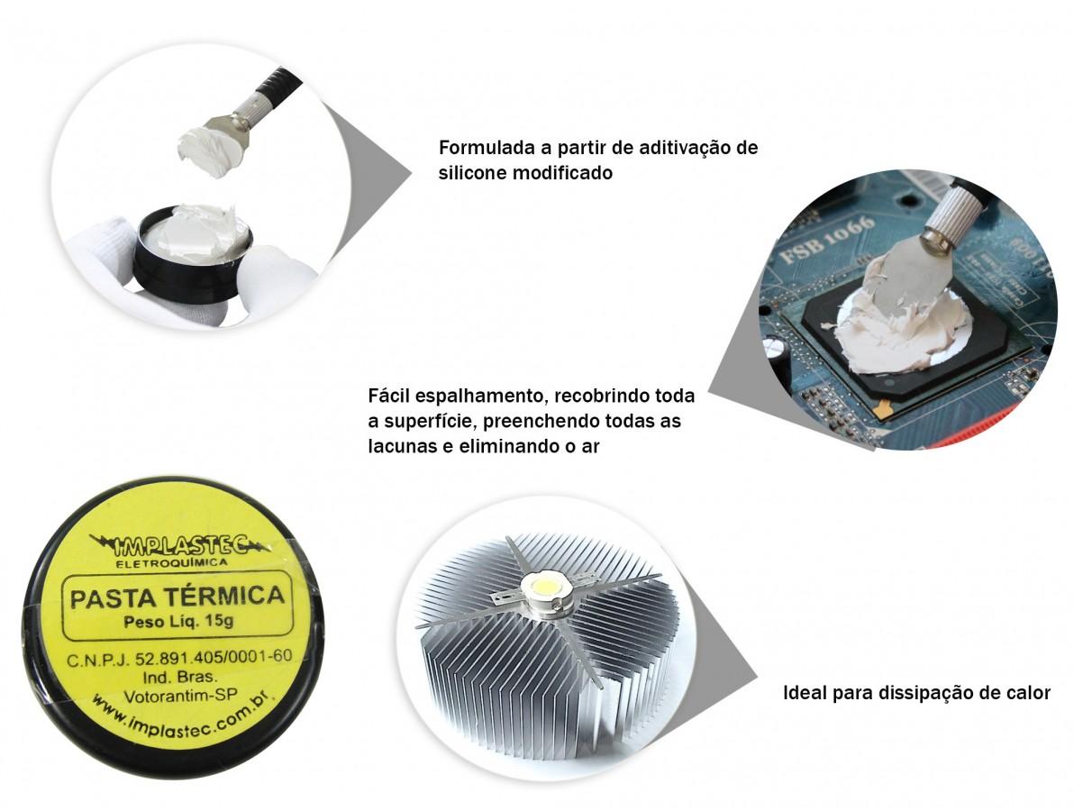 Pasta Térmica de Silicone Dissipadora de Calor para Processadores, PS3 e Outros