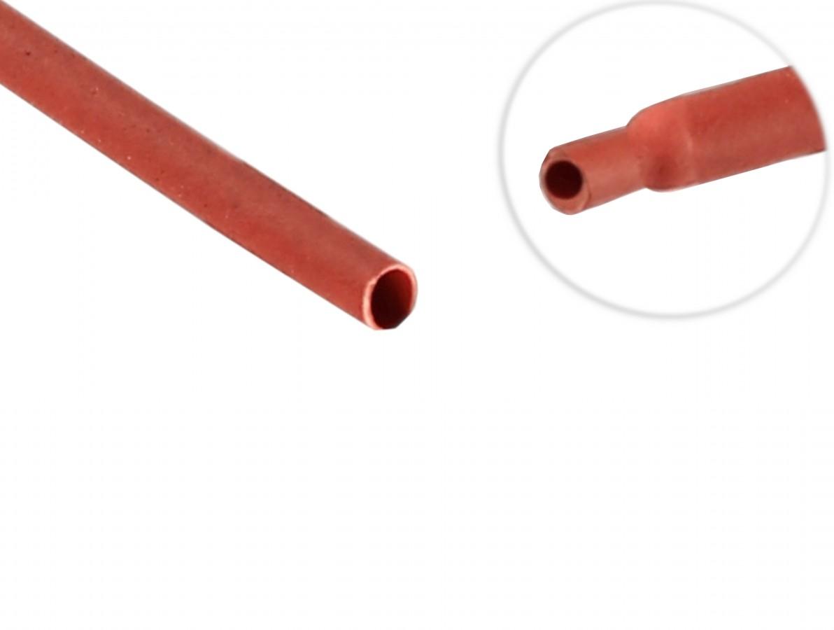 Espaguete Termo Retrátil para Isolamento 1 mm Vermelho - Venda por metro