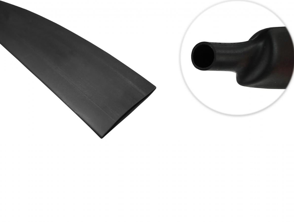 Espaguete Termo Retrátil para Isolamento 10mm Preto - Venda por metro