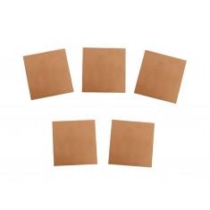 Kit Placa de Fenolite Cobreada Simples 5x5 cm para CI - Kit com 5 unidades