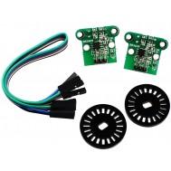 Sensor de Contagem duplo / Chave Óptica + discos Encoder - HC 020K