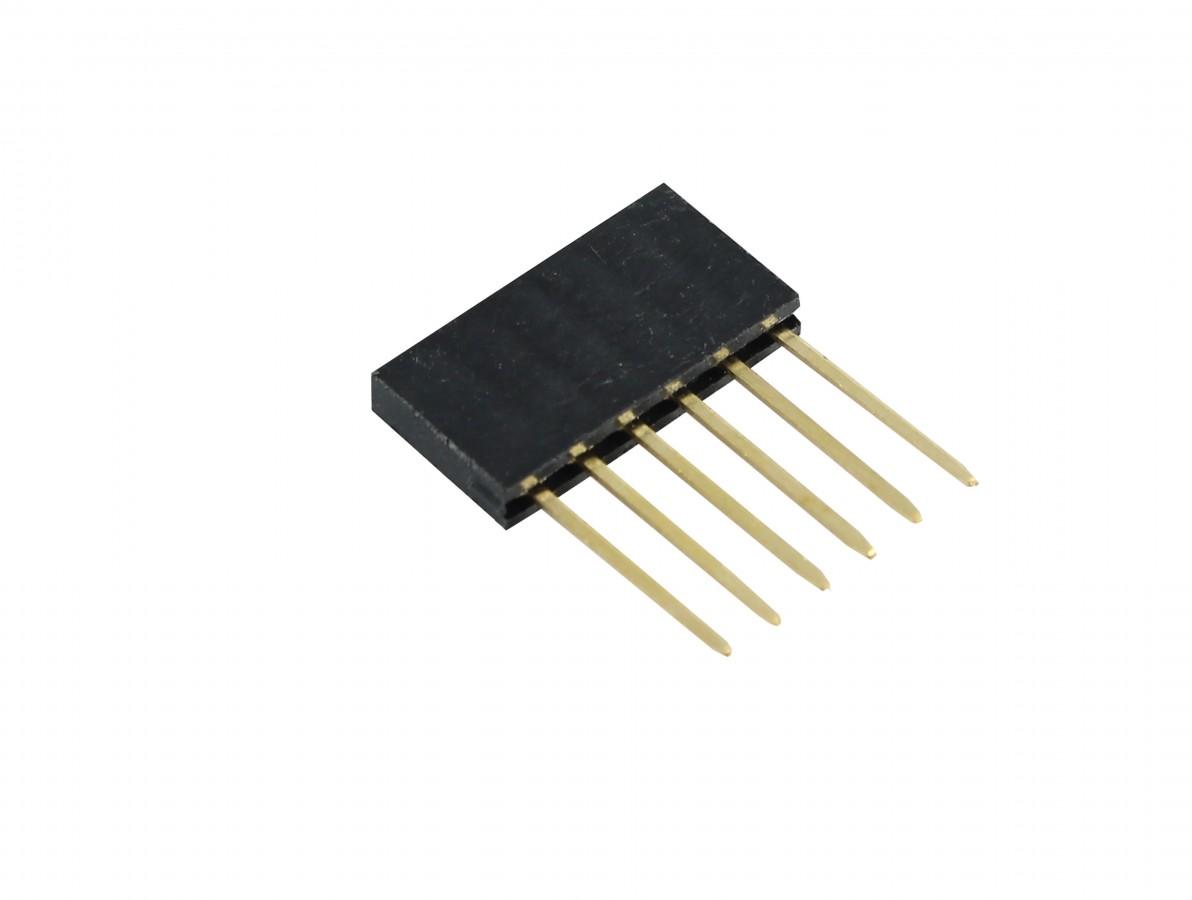 Barra de 6 pinos fêmea conectores empilhável para Arduino