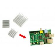Kit Dissipador de Calor Autoadesivo Raspberry Pi 3, Pi 2, B e B+ em Alumínio - 3 Unidades