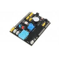 Shield Arduino Multifunções K596 com DHT11, LM35, Receptor IR, LDR, LEDs, Buzzer e Outros