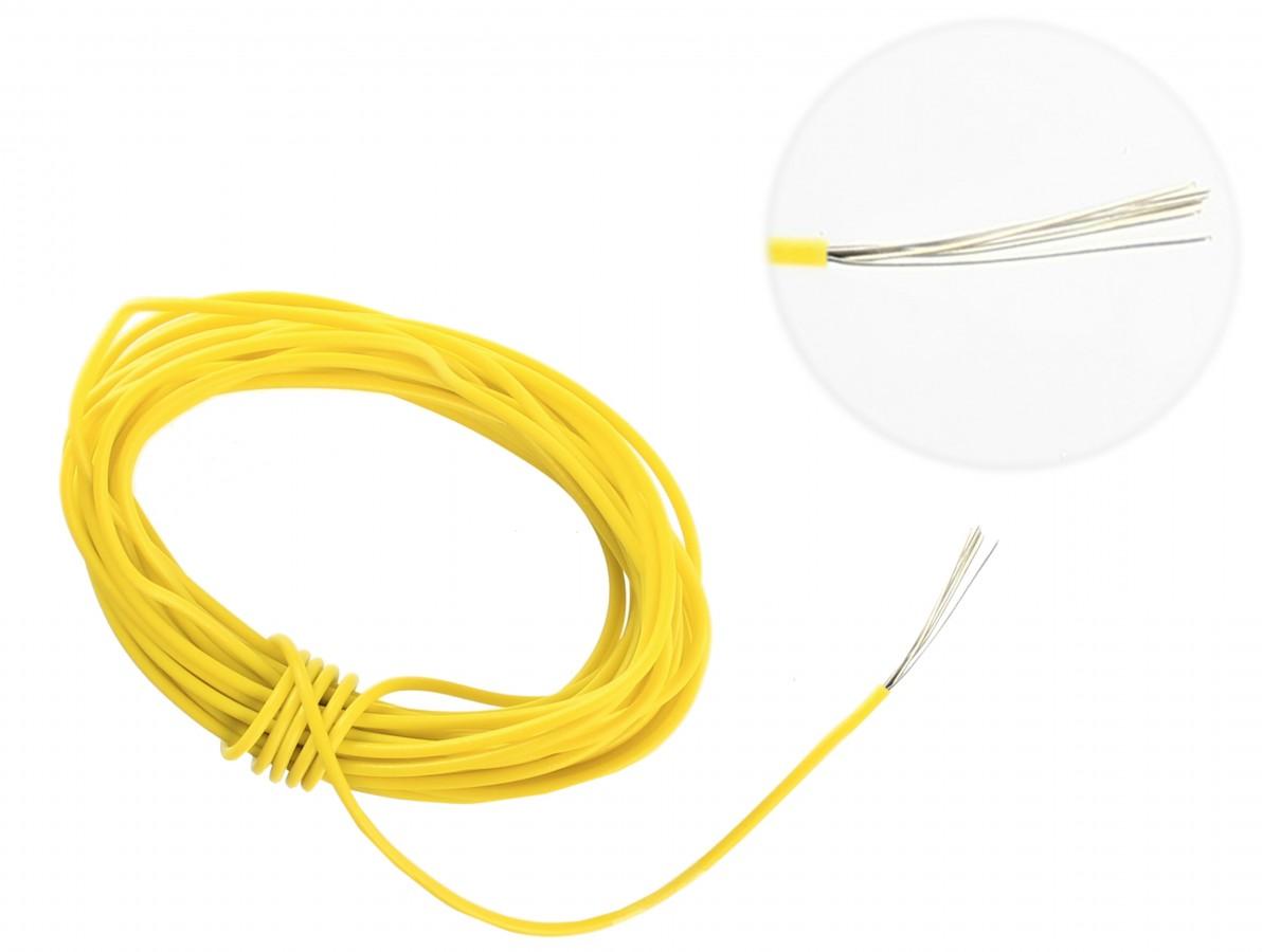 Cabo flexível TiaFlex 5m - 0,20mm² Amarelo