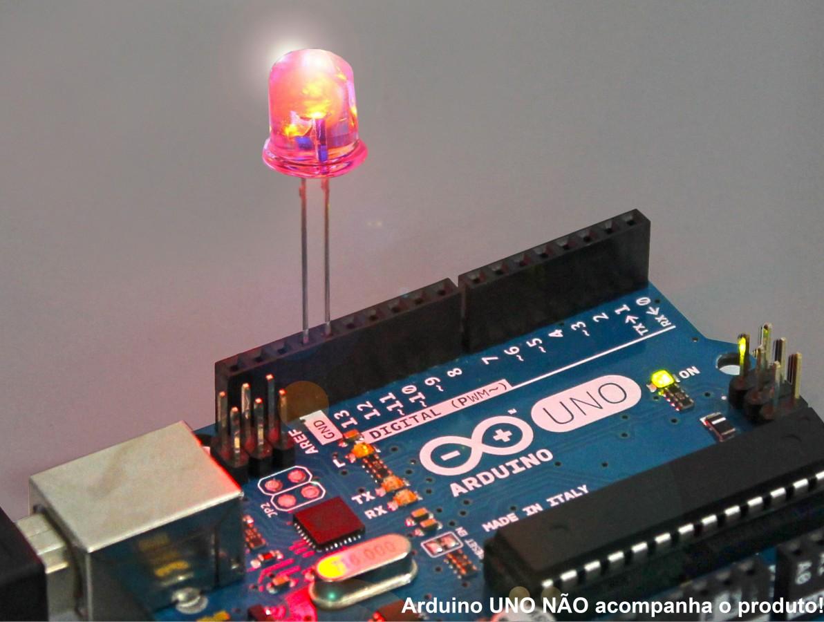 LED Vermelho 10mm Difuso