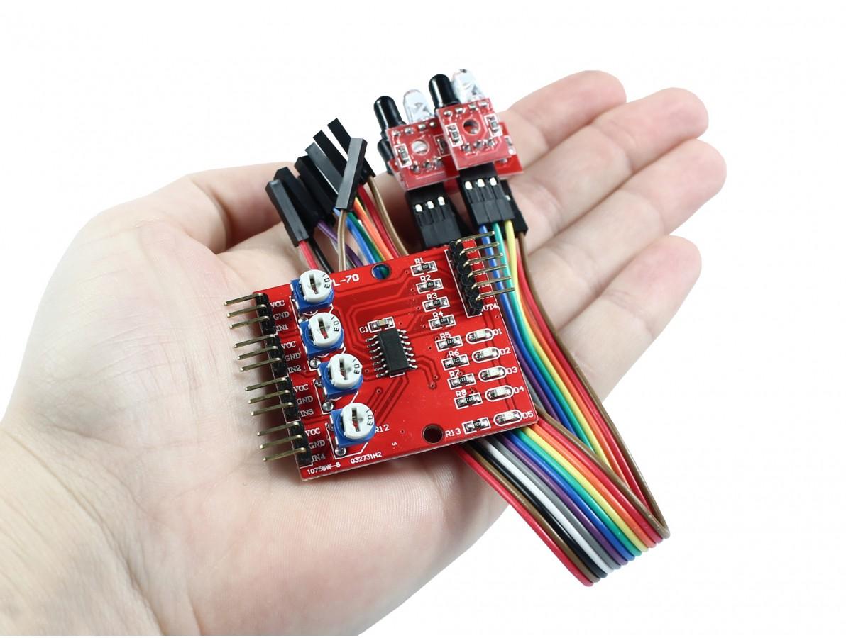Módulo Sensor de Linha Infravermelho 4 Sondas
