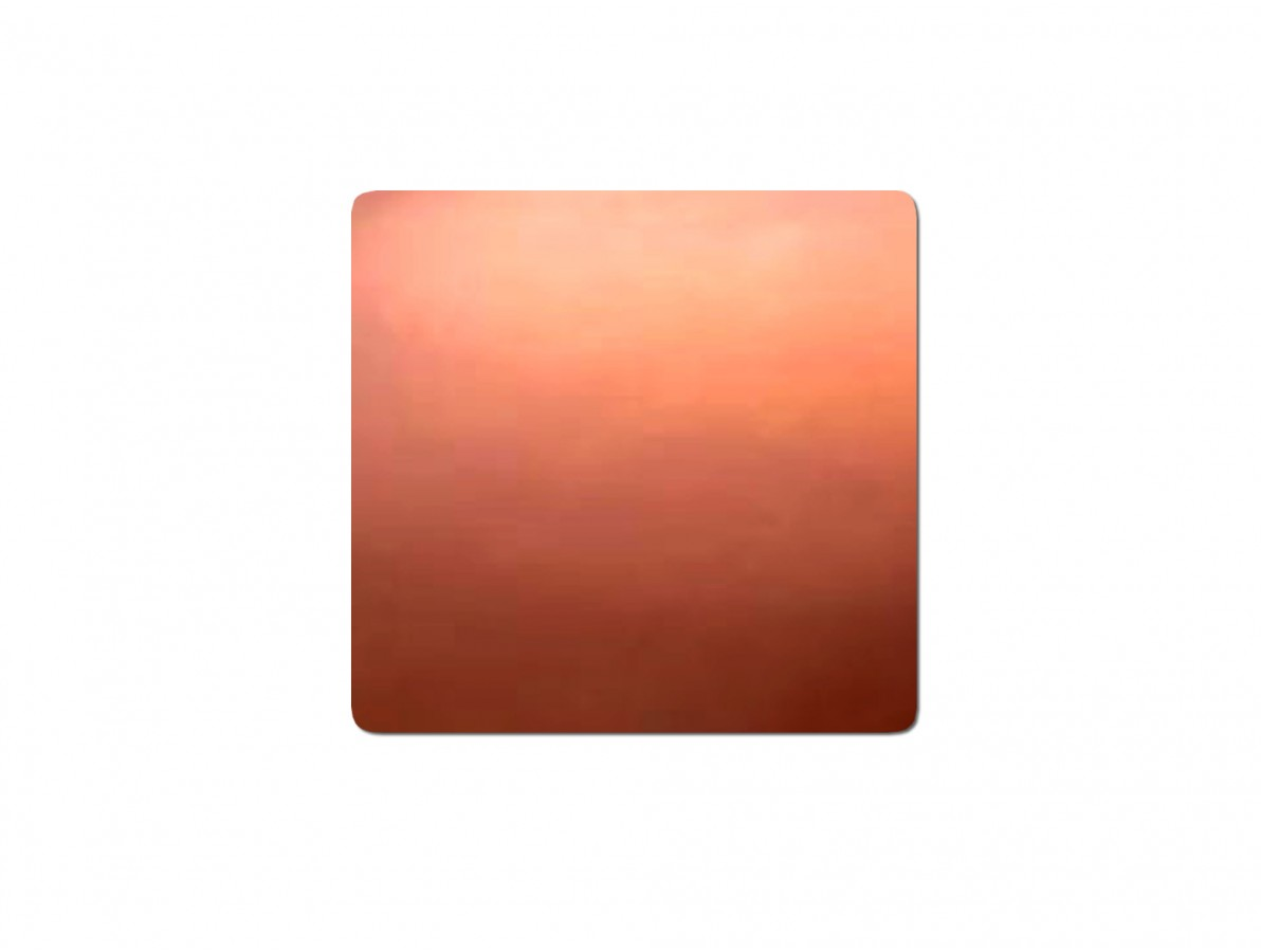 Chapa de cobre dissipadora de calor para processadores e chipset's - 20 x 20 x 1.2mm