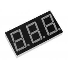 Display 7 Segmentos 3 Dígitos Vermelho - Anodo Comum