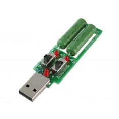 Resistor de Carga e Descarga USB 1A / 2A / 3A para Testes