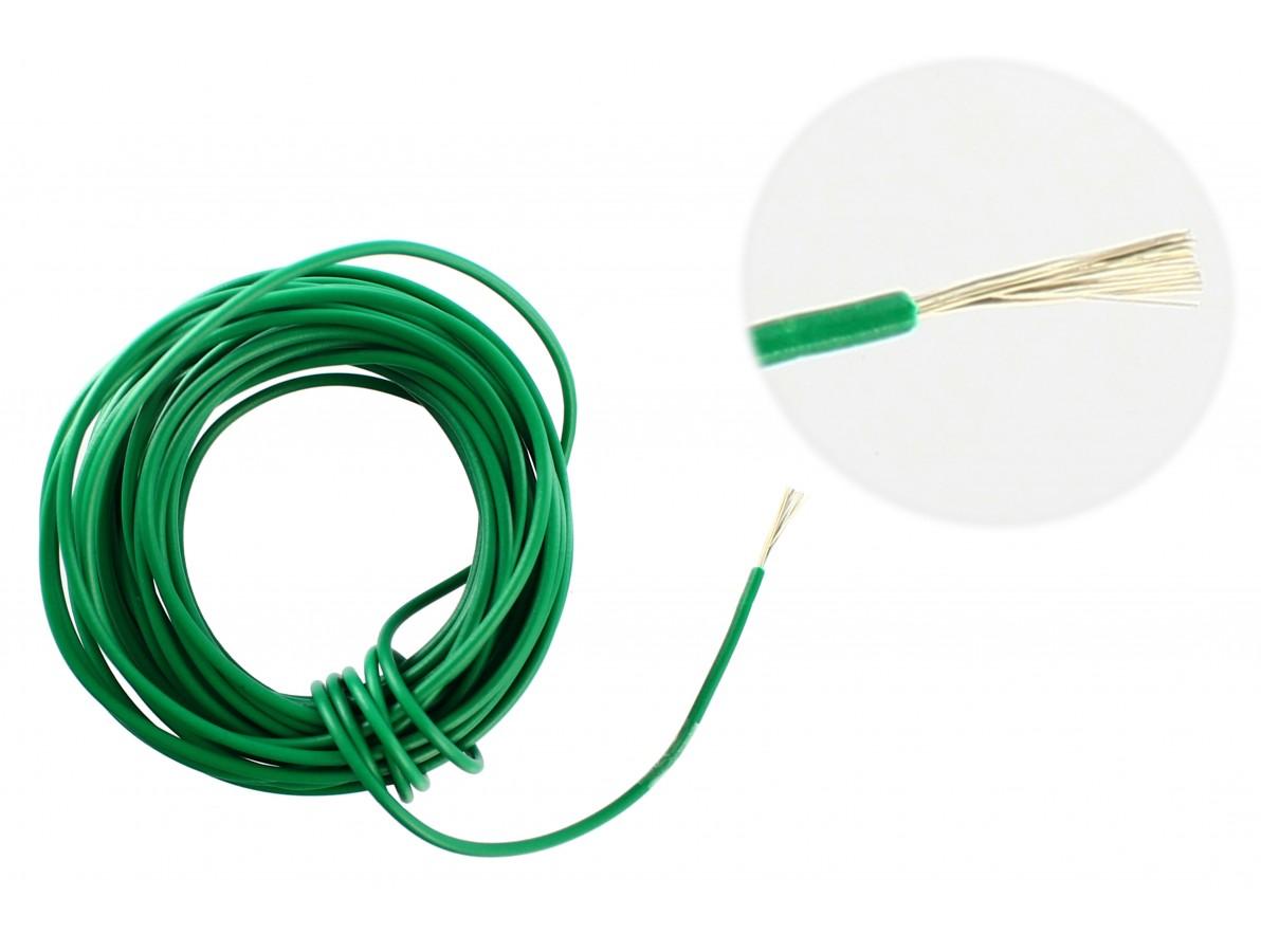 Cabo Flexível TiaFlex 5m - 0,50mm² -  Verde