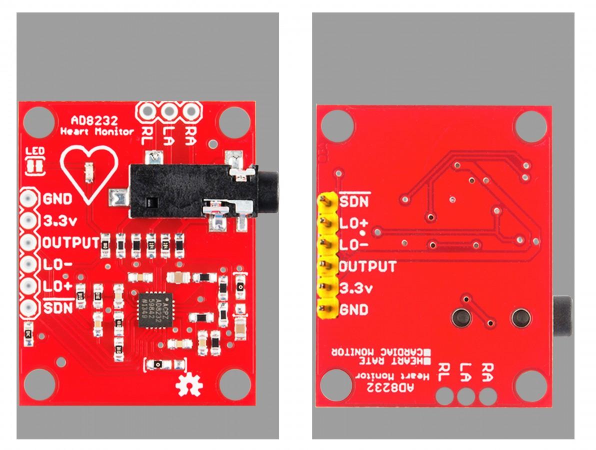 Sensor Muscular ECG / Monitor de Batimentos Cardíacos para Arduino - AD8232