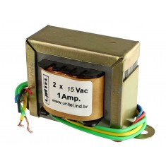Transformador Trafo 15V + 15VAC 1A Bivolt de Uso Geral