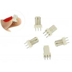 Conector 5045 3 Pinos Macho - Kit com 5 Unidades