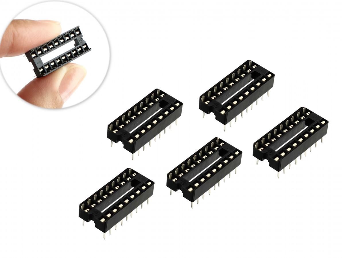 Soquete Estampado 18 pinos para CI - Kit com 5 unidades