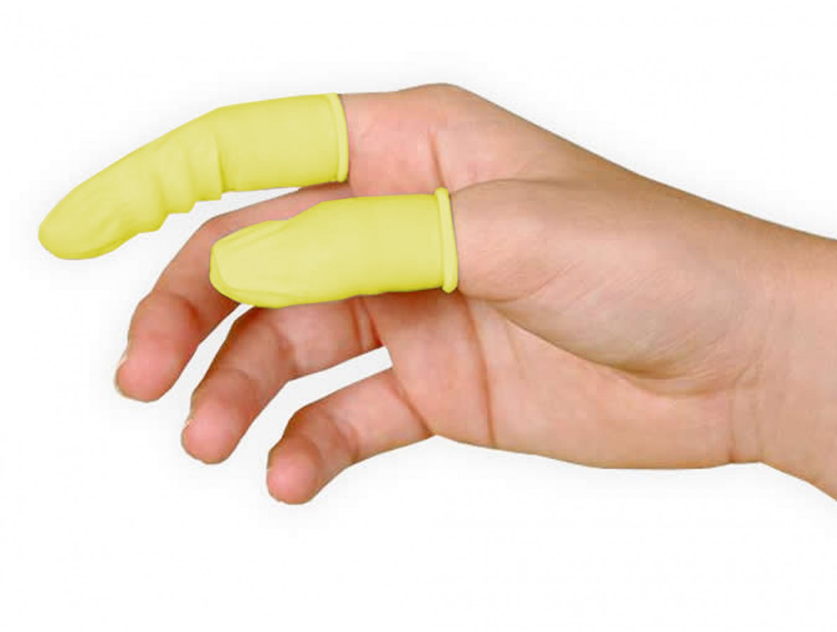 Dedeira de Látex Antiestática / Protetor de Dedo Antiestático - Kit com 10 unidades