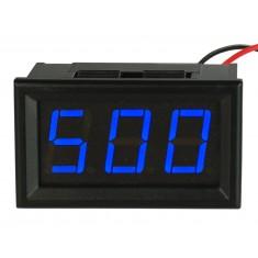 Voltímetro Digital 3 Dígitos LED 30V a 500VAC - Azul
