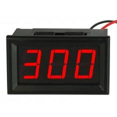 Voltímetro Digital 3 Dígitos LED 60 a 300V AC - Vermelho