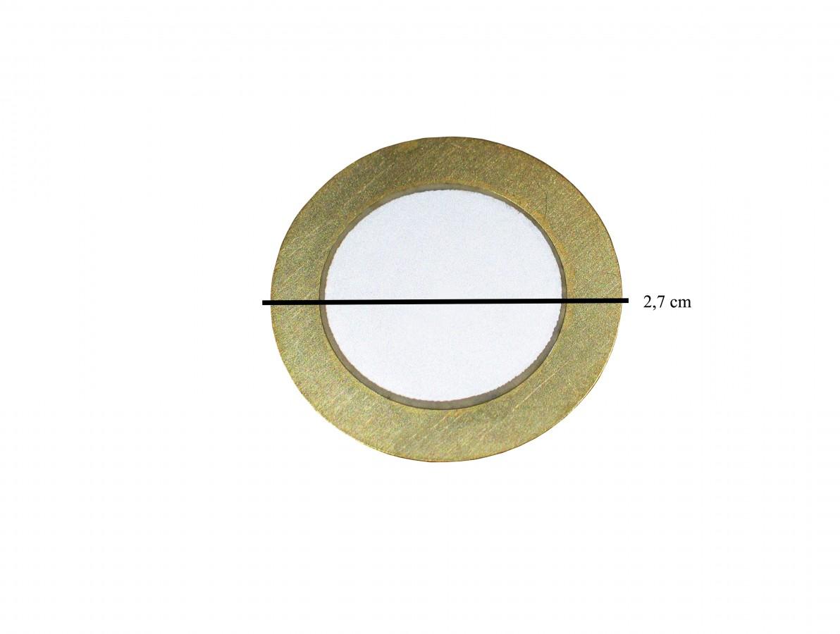 Transdutor Piezoelétrico / Pastilha 27mm - Kit com 5 unidades