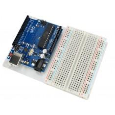 Kit Prototipagem com Base Acrílica Incolor + Protoboard e Parafusos